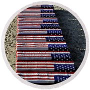 Freedom Costs Round Beach Towel