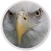 Freedom Eagle Round Beach Towel