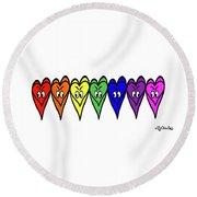 Freedom Is In The Rainbow Round Beach Towel