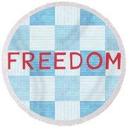 Freedom Patchwork Round Beach Towel