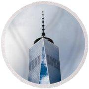 Freedom Tower Round Beach Towel