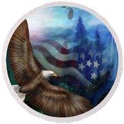 Freedom's Flight Round Beach Towel