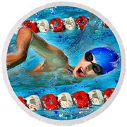 Freestyle Round Beach Towel by Stephen Younts