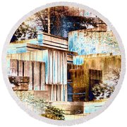 Freeway Park Round Beach Towel