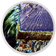Freeway Park Waterfall Round Beach Towel