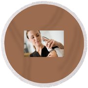 Freeze Skin Tags Round Beach Towel
