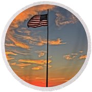 Freezeout Hill Memorial Round Beach Towel