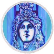French Architecture Round Beach Towel