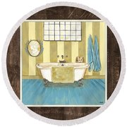 French Bath 2 Round Beach Towel