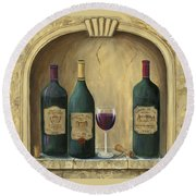 French Estate Wine Collection Round Beach Towel