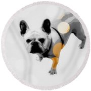 French Lights Round Beach Towel