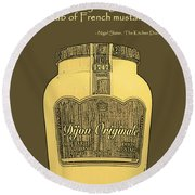 French Mustard Or Mustard King Round Beach Towel