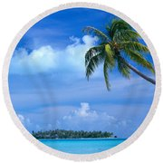 French Polynesia, Bora Bo Round Beach Towel