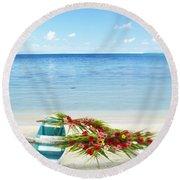 French Polynesia, Huahine Round Beach Towel