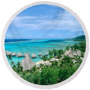 French Polynesia, Moorea Round Beach Towel