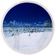 French Polynesia, Tetiaro Round Beach Towel