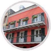 French Quarter 21 Round Beach Towel