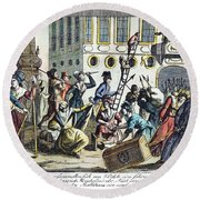 French Revolution, 1789 Round Beach Towel