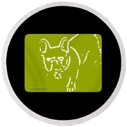 Frenchielove Design Chartreuse Round Beach Towel
