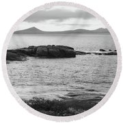 Esperance Bay Bw Round Beach Towel