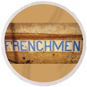 Frenchmen St. Nola Round Beach Towel