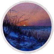 Frenchy's Sunset Round Beach Towel