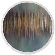 Frequency Round Beach Towel