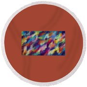 Fresh Abstraction Round Beach Towel