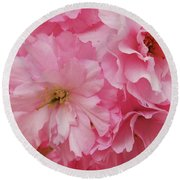 Fresh Blooms Round Beach Towel
