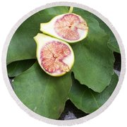 Fresh Figs Round Beach Towel