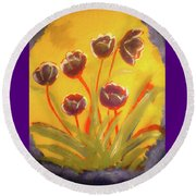 Fresh Flowers- 2nd In Series- The Dawn Round Beach Towel