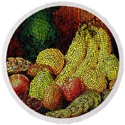 Fresh Fruit Tiled Round Beach Towel