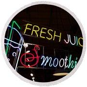 Fresh Juices Round Beach Towel