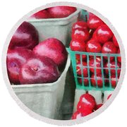 Fresh Market Fruit Round Beach Towel