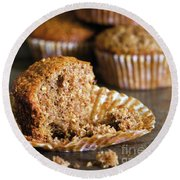 Freshly Baked Muffins Round Beach Towel