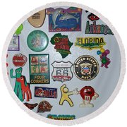 Fridge Magnets Round Beach Towel
