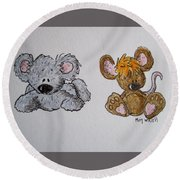 Friends 2 Round Beach Towel