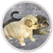Friends Forever  Round Beach Towel