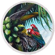 Friends Of A Feather Round Beach Towel by Karin  Dawn Kelshall- Best
