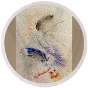 Friends Of A Feather Round Beach Towel