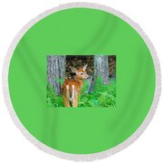 Friends Of The Forest  Round Beach Towel