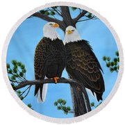 Friends Round Beach Towel by Tracey Goodwin