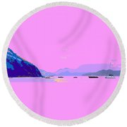 Frigate Bay Morning Round Beach Towel