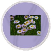 Sometimes It's Complicated Round Beach Towel