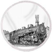 Steam Driven Locomotive Round Beach Towel