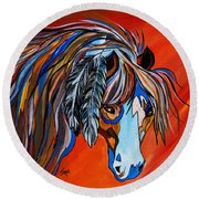 Frisco War Horse Round Beach Towel
