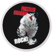 Frizzled Brahma T-shirt Print Round Beach Towel