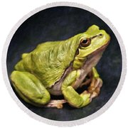 Frog - Id 16236-105016-7750 Round Beach Towel