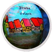 Frohe Ostern Round Beach Towel