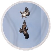 Frolicking Eagles Round Beach Towel